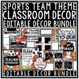 Sports Theme Classroom Decor: Newsletter Template Editable, Labels