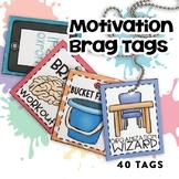 Motivation Brag Tags | School Ready | Digital Stickers | D