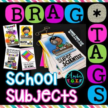 Brag Tags School Subjects