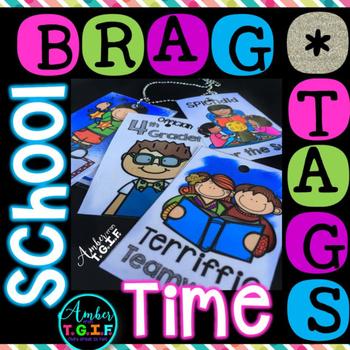 Brag Tags School Theme
