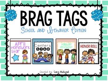 Brag Tags: School and Behavior Edition