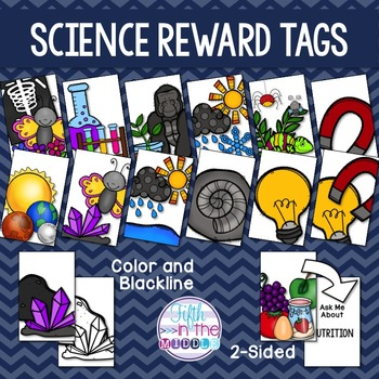 EDITABLE Science Topics Brag Tags