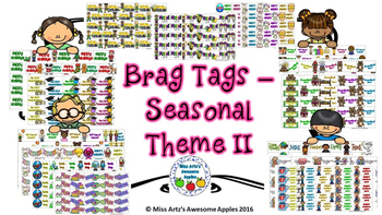 Brag Tags - Seasonal Theme II
