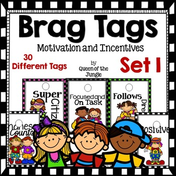 Brag Tags Incentives Motivation Set 1