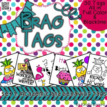 Brag Tags - Set 1 Academic & Behavior Tags