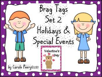Brag Tags Set 2 Holidays & Special Events Editable