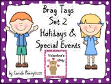 Brag Tags Set 2 Holidays & Special Events Editable