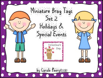 Brag Tags Set 2 Holidays