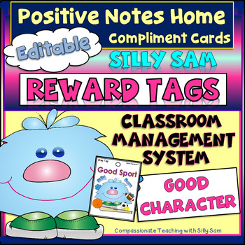Brag Tags Silly Sam Classroom Compliments GOOD CHARACTER