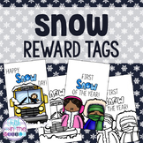 Snow Day and First Snow Reward Tags