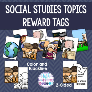 EDITABLE Social Studies Topics Brag Tags