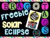 Brag Tags Solar Eclipse Freebie