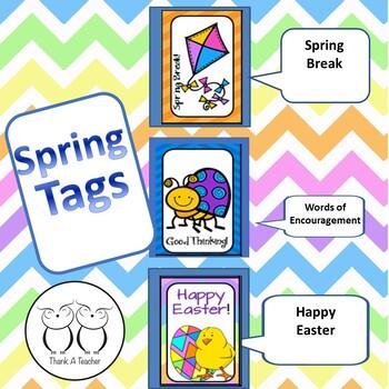 Brag Tags : Spring Break  Easter  Words of Encouragement