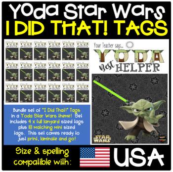 "BRAG TAGS - Star Wars ""Yoda Best Helper"" - Tabloid, 4pp"
