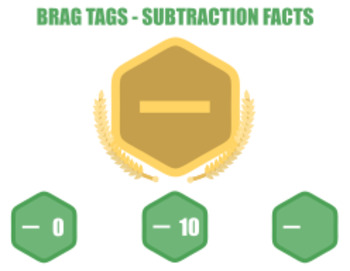 Brag Tags - Subtraction