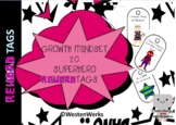 Beginning of the year Brag Tags Super Hero Growth Mindset