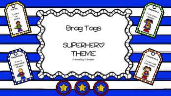 Brag Tags (Superhero Theme)