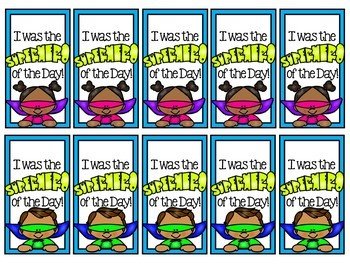 Brag Tags Superhero of the Day -a freebie to add to your brag tag collection!