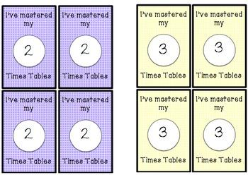 Brag Tags Times Tables