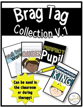 Brag Tags Vol. 1 | Teacher or Therapist Use