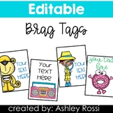 Brag Tags With Editable Text