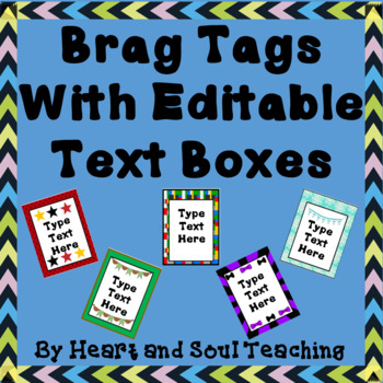 Brag Tags With Editable Text Boxes