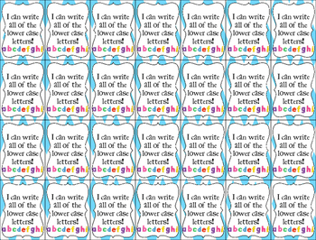 Brag Tags- Write Lower Case Letters
