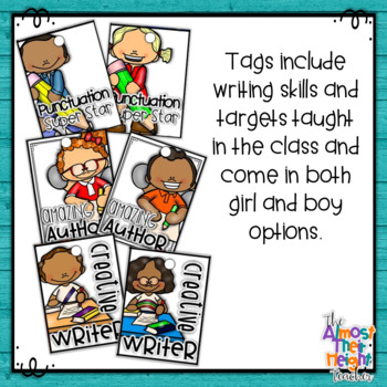 Reward Tags for Writing - a great classroom management system