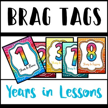 Brag Tags - Years in Lessons/Piano