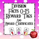 Division Facts Reward Tags and Editable Award Certificates
