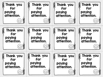 Brag Tags for Behavior and Classroom Management (Black and White Version)