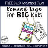 Reward Tags for Big Kids: Back to School Classroom Managem
