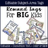 Brag Tags for Big Kids: Subject Area Reward Tags