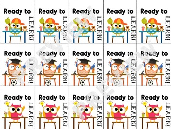 Brag Tags for Classroom Behaviors Owl theme