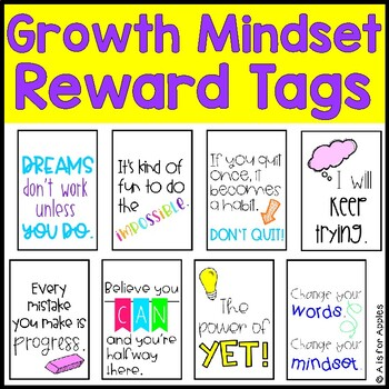 Brag Tags for Growth Mindset