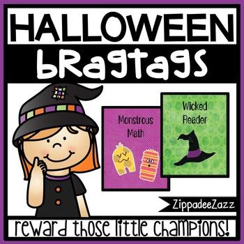 Halloween Brag Tags Sample - 1 designs - 15 per pg - Behavior Incentive