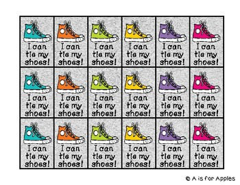 brag tags for i can tie my shoes behavior incentive freebie