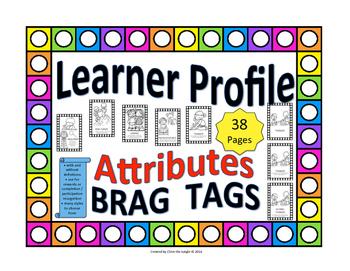 IB Brag Tags for Learner Profile Attributes
