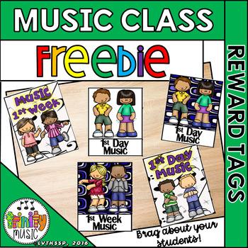 Brag Tags for Music Class (FREEBIE)
