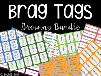 Brag Tags (Growing Bundle!) for Upper Elementary