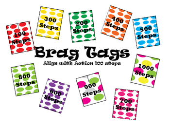 Brag Tags for Reading Steps