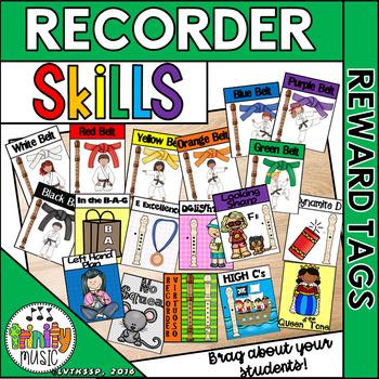 Recorder Reward Tags (Music Class)