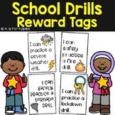 Reward Tags for School Drills