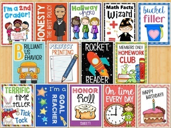 Brag Tags for Second Grade