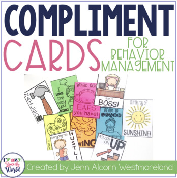 Compliment Cards for Behavior Management in Speech Therapy