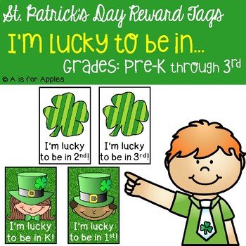 Brag Tags for St. Patrick's Day (I'm Lucky!)