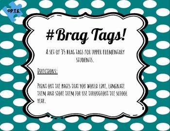 Brag Tags for Upper Elementary