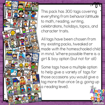 Brag Tags for the Home-School Classroom