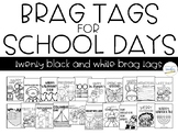 Brag Tags on School Days {Black and White}