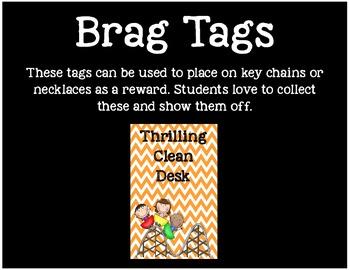 Brag Tags or Behavior Tags: Thrilling Clean Desk
